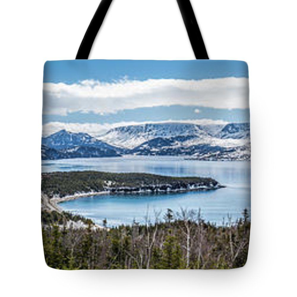 Norris Point Tote Bag featuring the photograph Overlooking Norris Point, Nl by Mike Organ