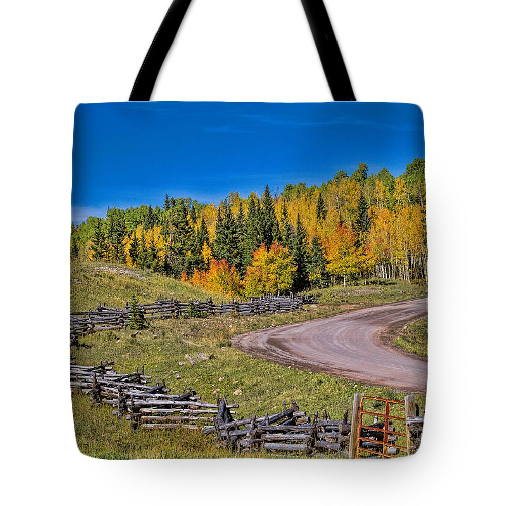 Fall Color Tote Bag featuring the photograph Owl Creek Pass Road by Alana Thrower