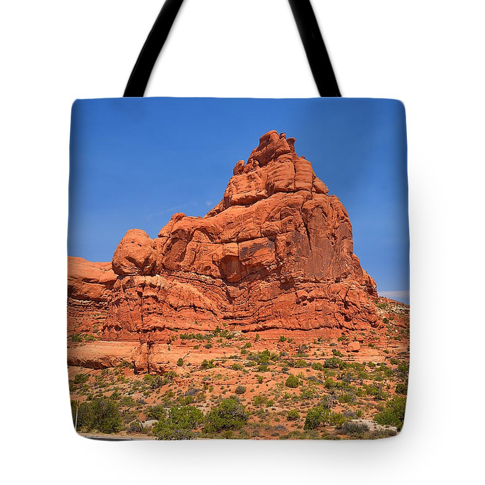 Arches Tote Bag featuring the photograph Owl Rock by Richard J Cassato