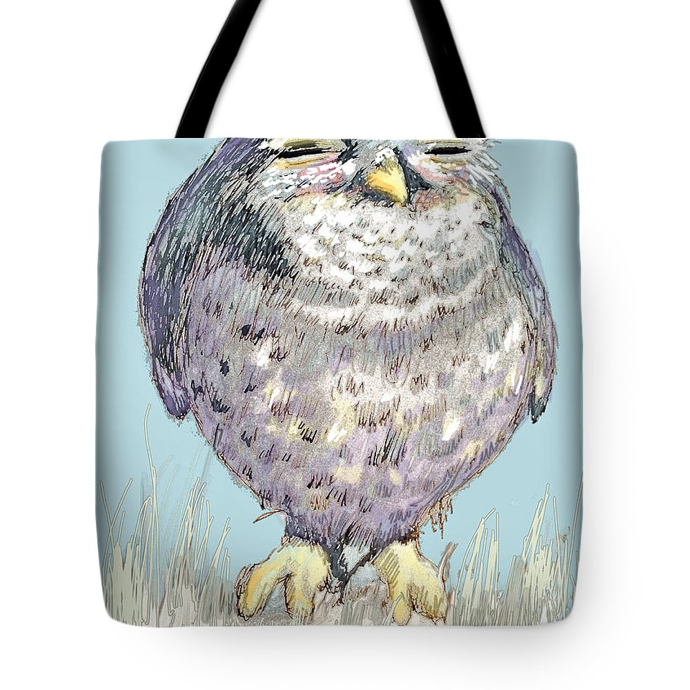 Owl Tote Bag featuring the painting Owl by Shane Guinn