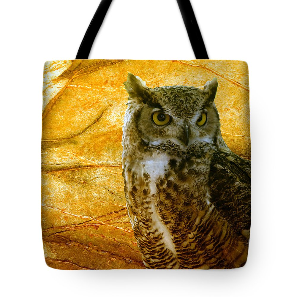 Animal Tote Bag featuring the photograph Owl by Teresa Zieba