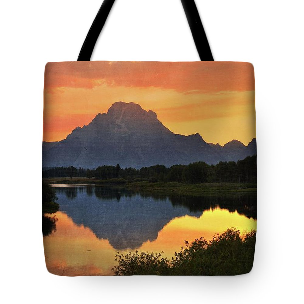 Grand Teton National Park Tote Bag featuring the photograph Oxbow Sunset 13 by Marty Koch