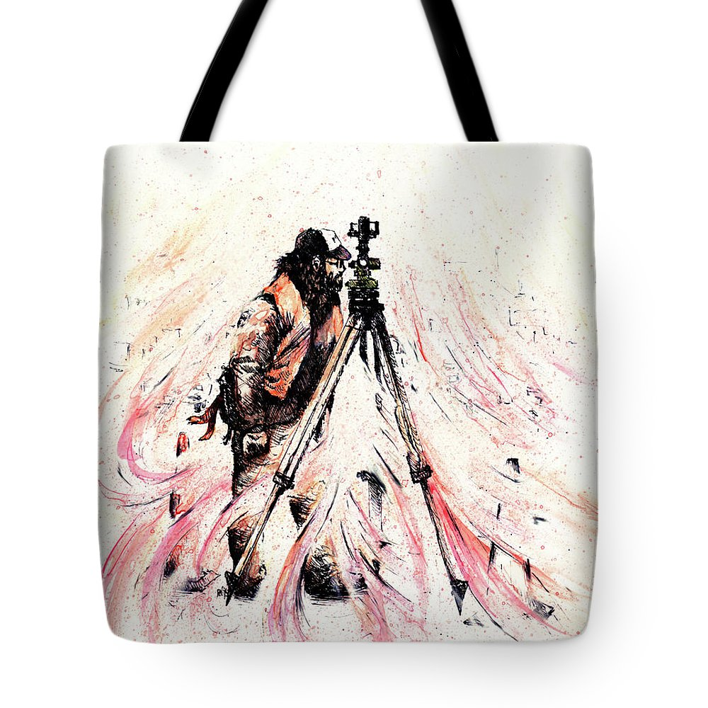 Figure Tote Bag featuring the drawing P J by Rachel Christine Nowicki
