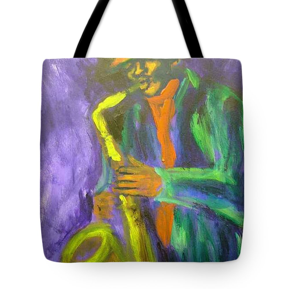 Painting Tote Bag featuring the painting The M by Jan Gilmore