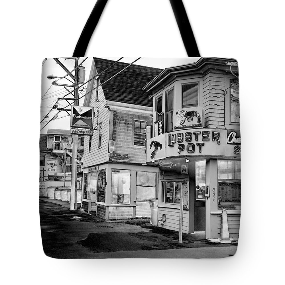 P-town Tote Bag featuring the photograph P-town Lobster Pot by Nicole Dunkelberger
