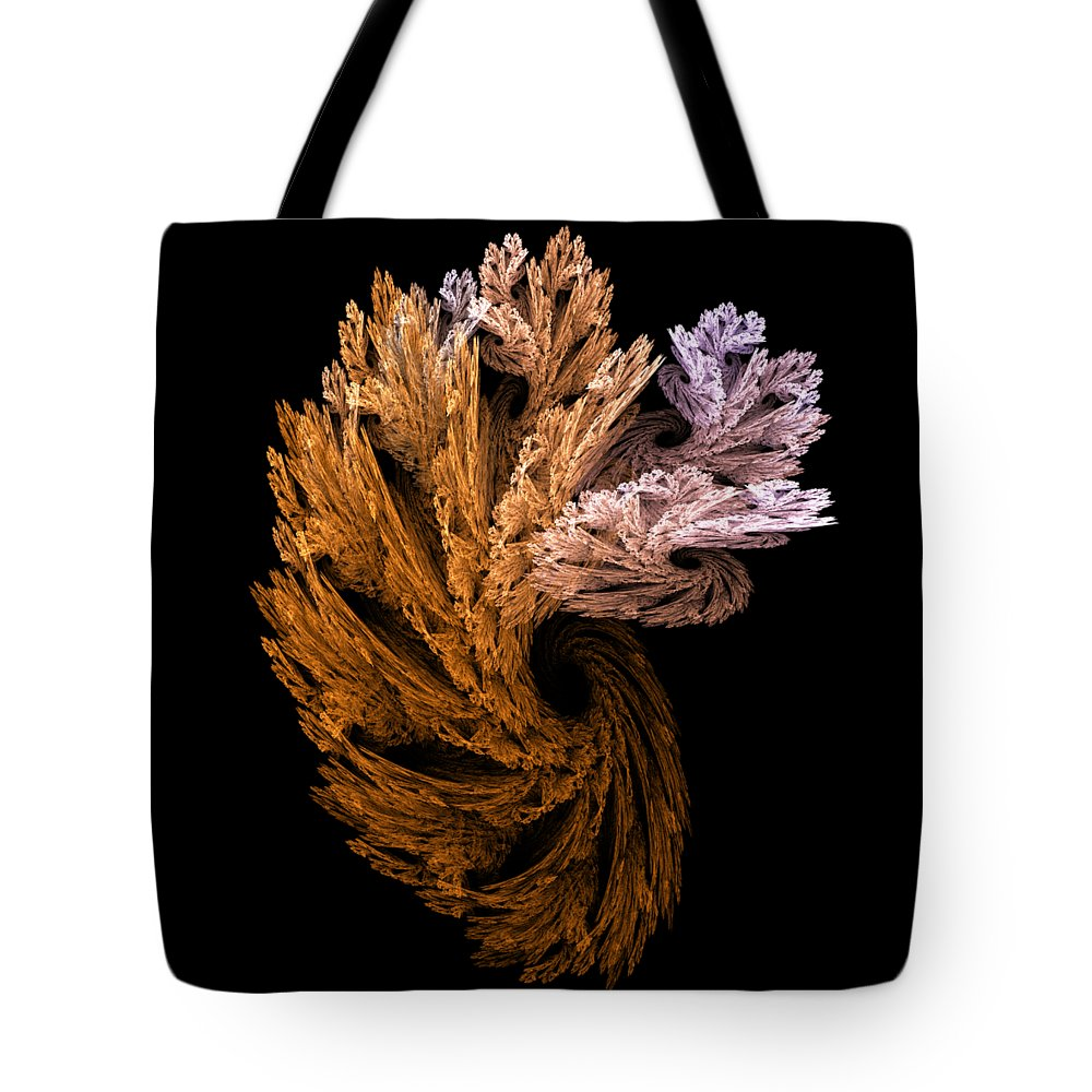 Fractal Tote Bag featuring the digital art p6 by Thomas Pendock