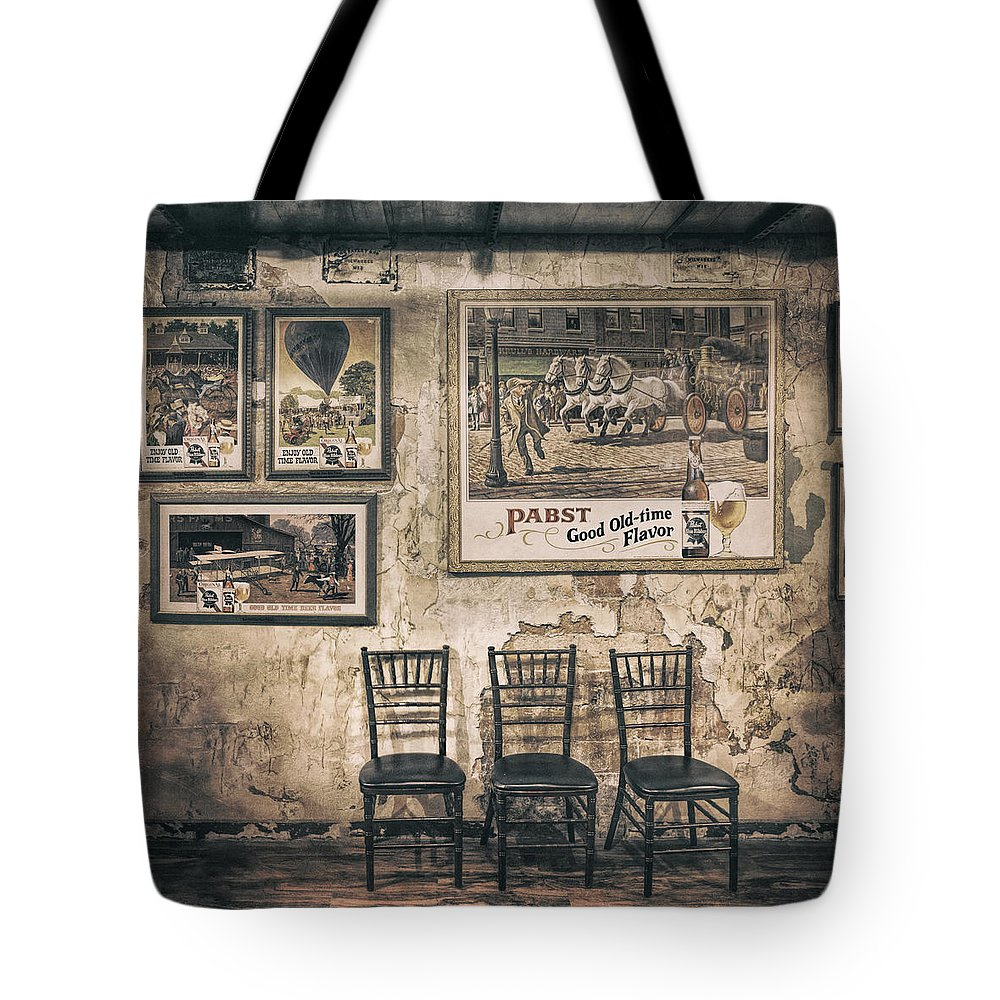 Scott Norris Photography Tote Bag featuring the photograph Pabst Good Old Time Flavor by Scott Norris