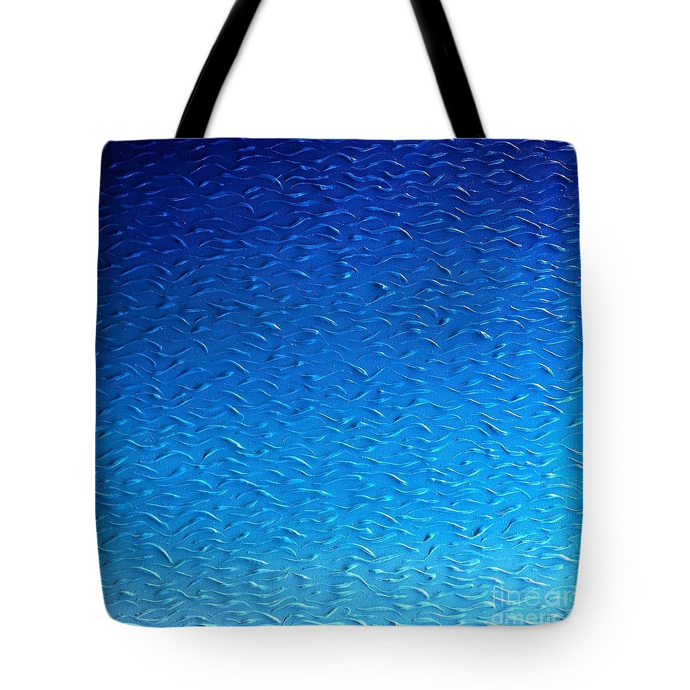 Tropics Tote Bag featuring the painting Pacific Blue by Gordon Matthews