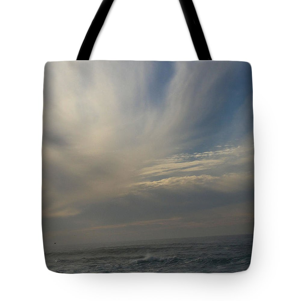Pacific Ocean Tote Bag featuring the painting Pacific Coast 1 by Laura Leigh McCall