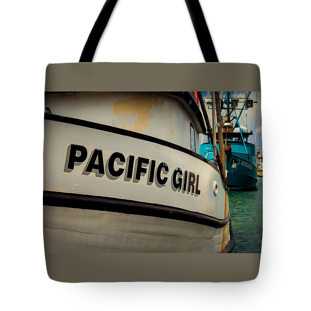 Boat Tote Bag featuring the photograph Pacific Girl by Gina Marie Gothe