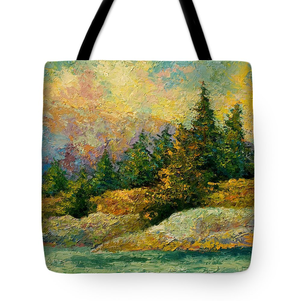 Alaska Tote Bag featuring the painting Pacific Island by Marion Rose