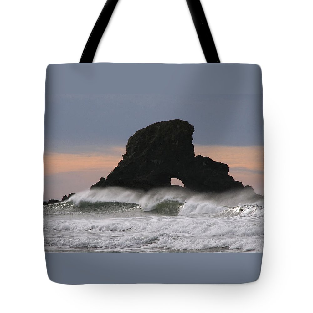 Pacific Northwest Waves Tote Bag featuring the photograph Pacific Northwest Waves by Wes and Dotty Weber