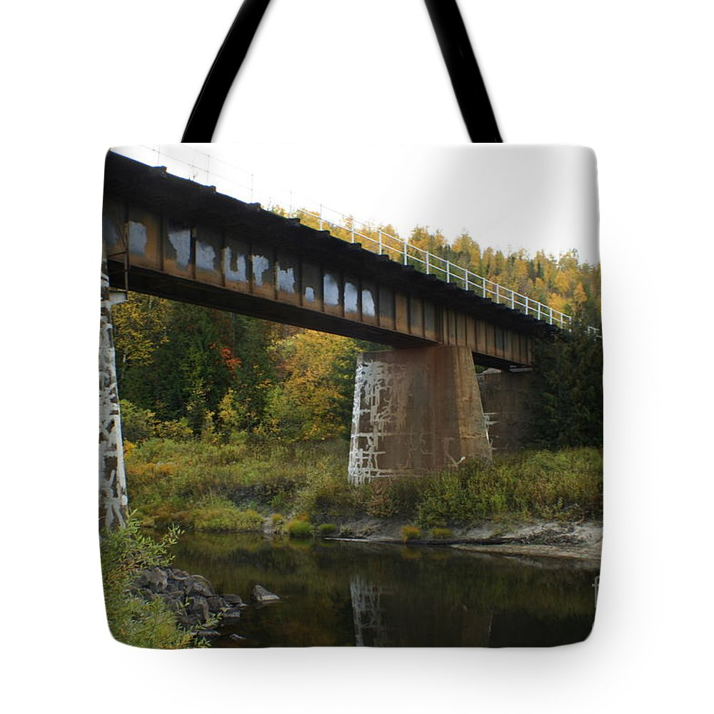 Bridge Tote Bag featuring the photograph Pack River Bridge by Idaho Scenic Images Linda Lantzy
