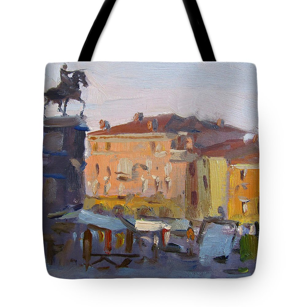 Padua Italy Tote Bag featuring the painting Padua Italy by Ylli Haruni