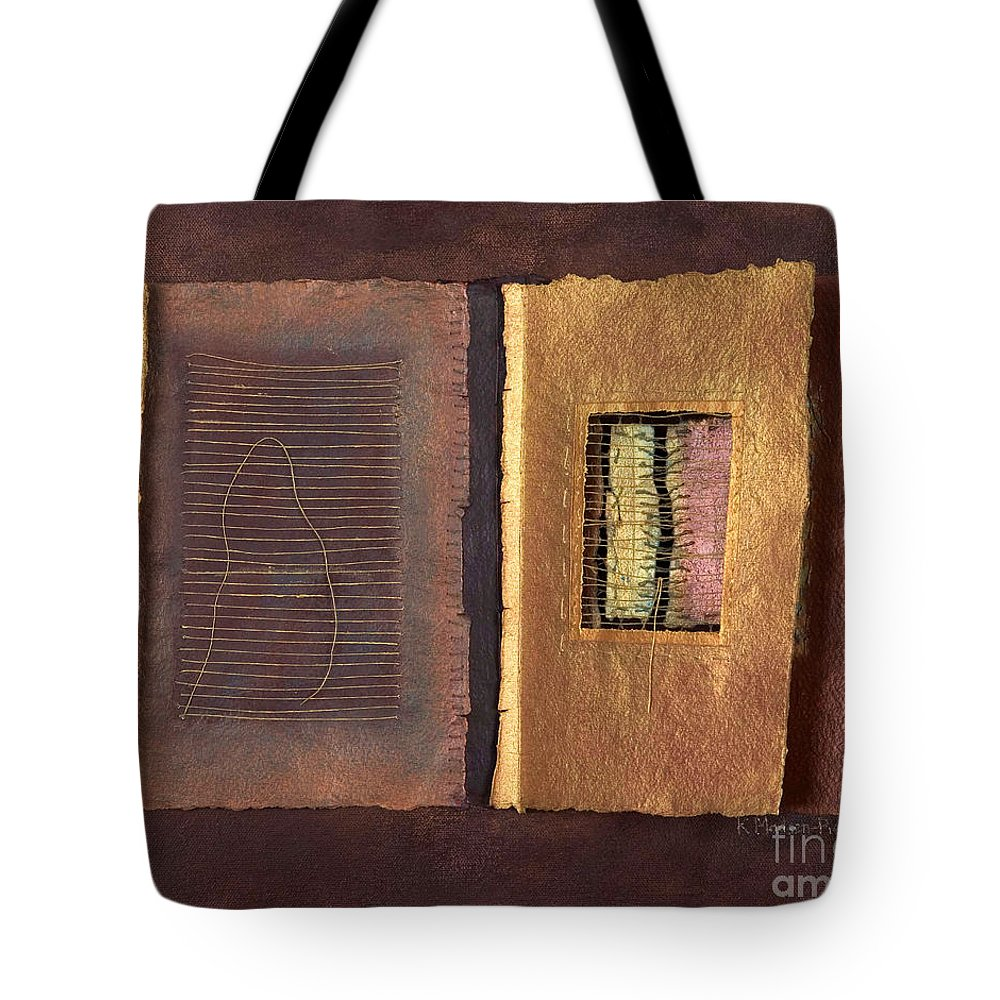 Pageformat Tote Bag featuring the painting Page Format No 2 Transitional Series by Kerryn Madsen-Pietsch