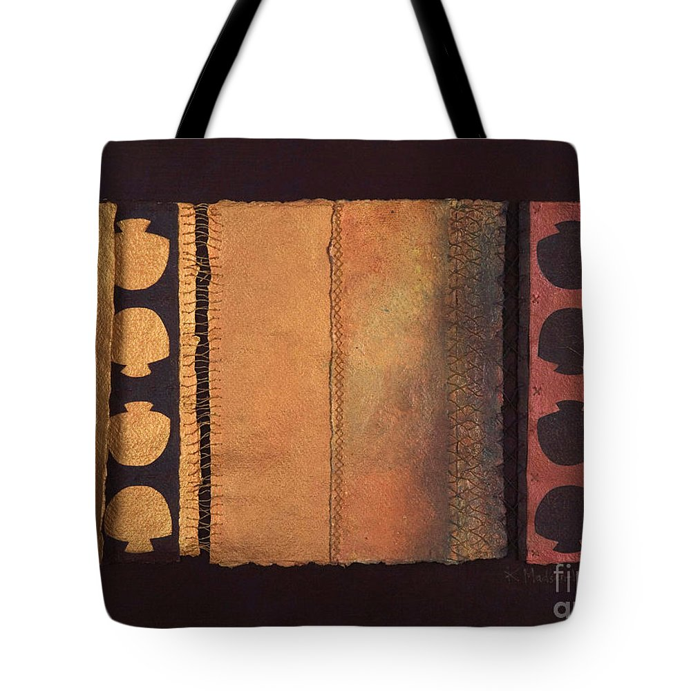 Artistbook Tote Bag featuring the painting Page Format No.4 Tansitional Series by Kerryn Madsen-Pietsch