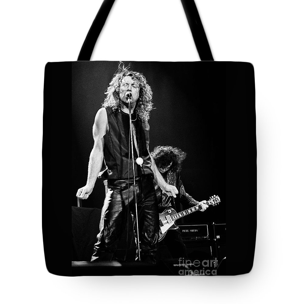 Robert Plant Tote Bag featuring the photograph Page N Plant-0068 by Timothy Bischoff