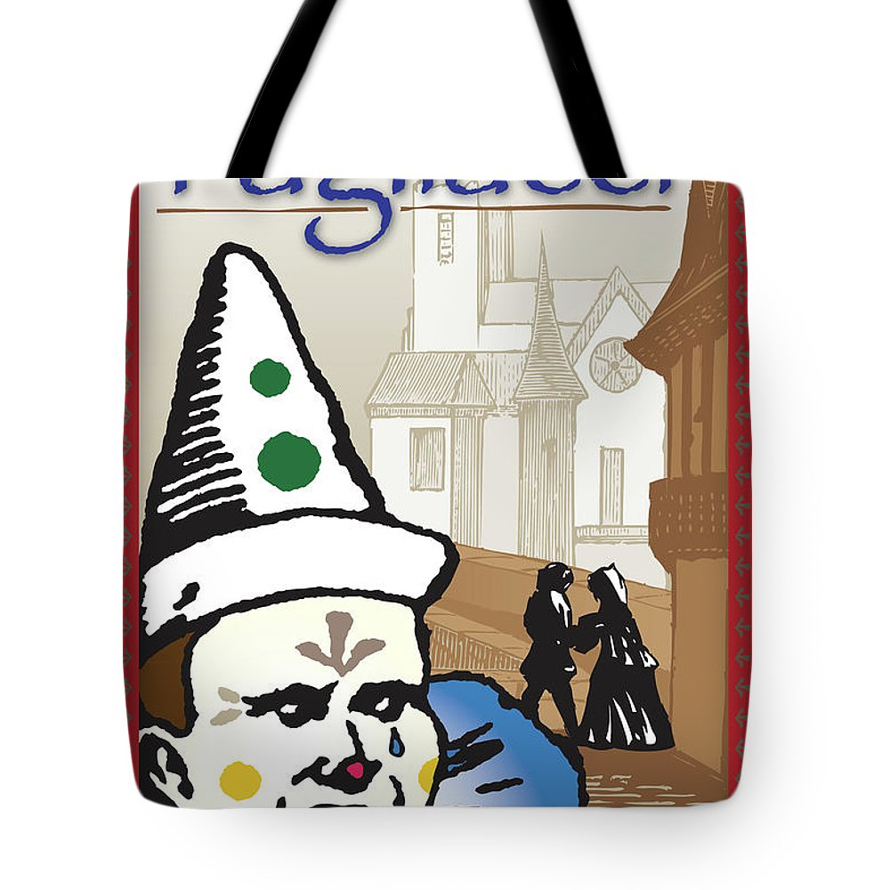 Ruggero Leoncavallo Tote Bag featuring the digital art Pagliacci by Joe Barsin