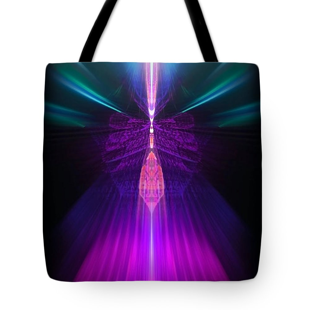 Angel Tote Bag featuring the digital art Pahaliah by Raymel Garcia