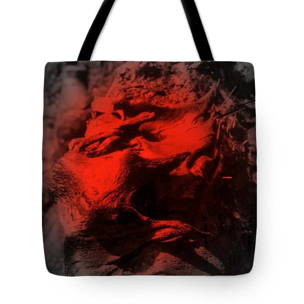 Lava Tote Bag featuring the digital art Pahoehoe Lava by Dina Holland