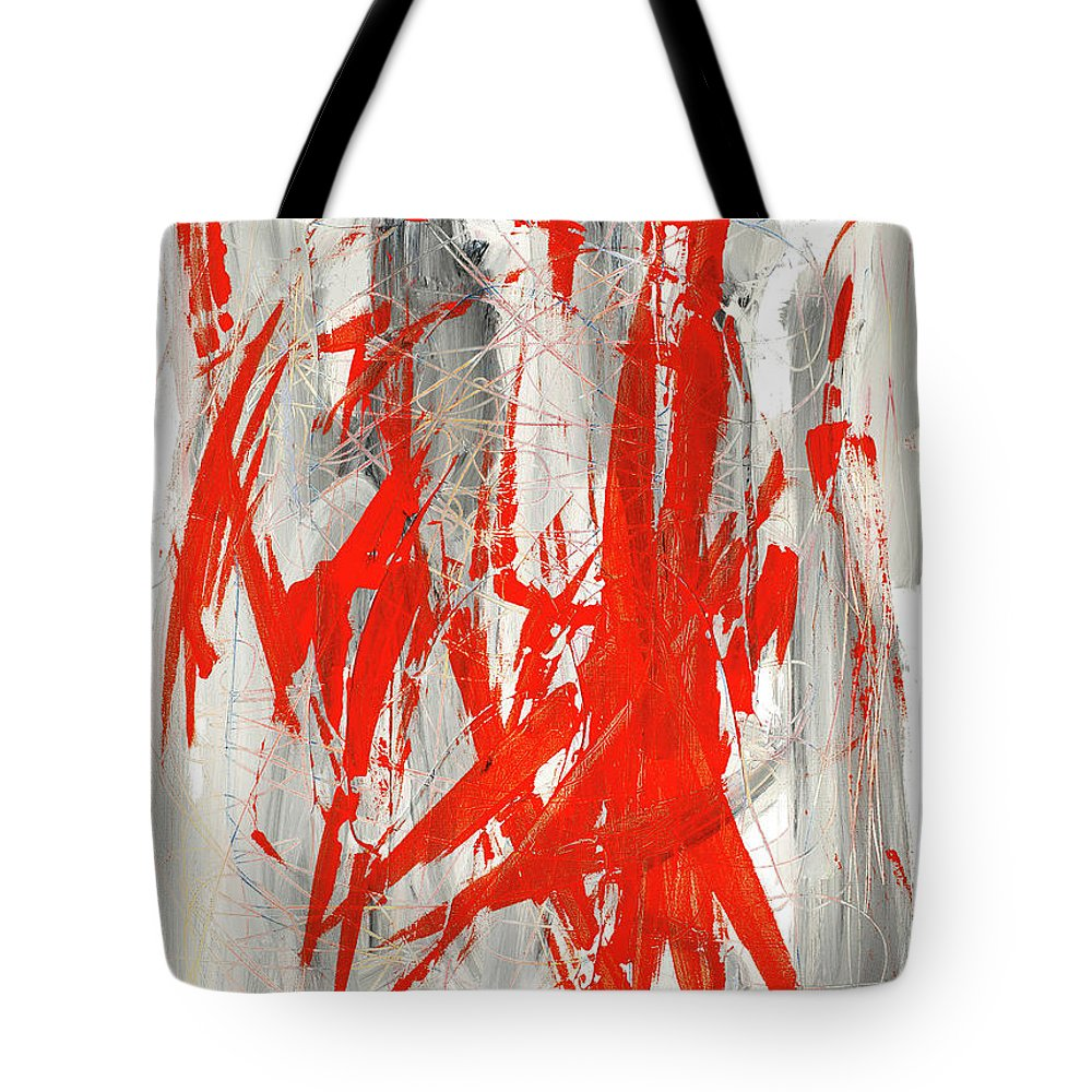 Pain Tote Bag featuring the painting Pain by Bjorn Sjogren