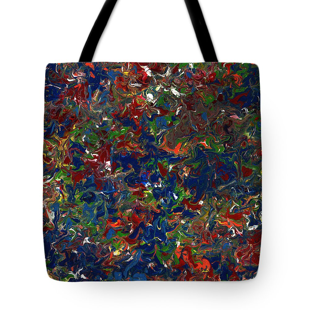 Abstract Tote Bag featuring the painting Paint Number 1 by James W Johnson