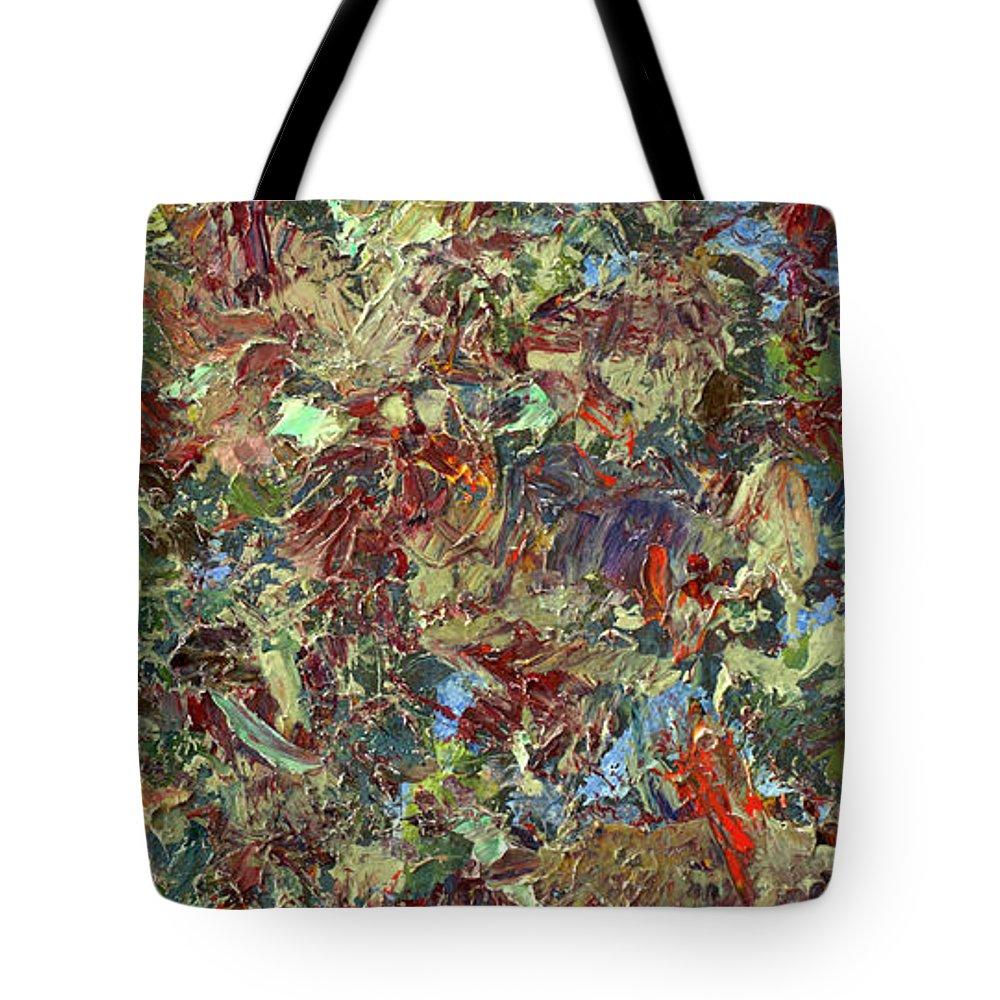 Abstract Tote Bag featuring the painting Paint Number 21 by James W Johnson