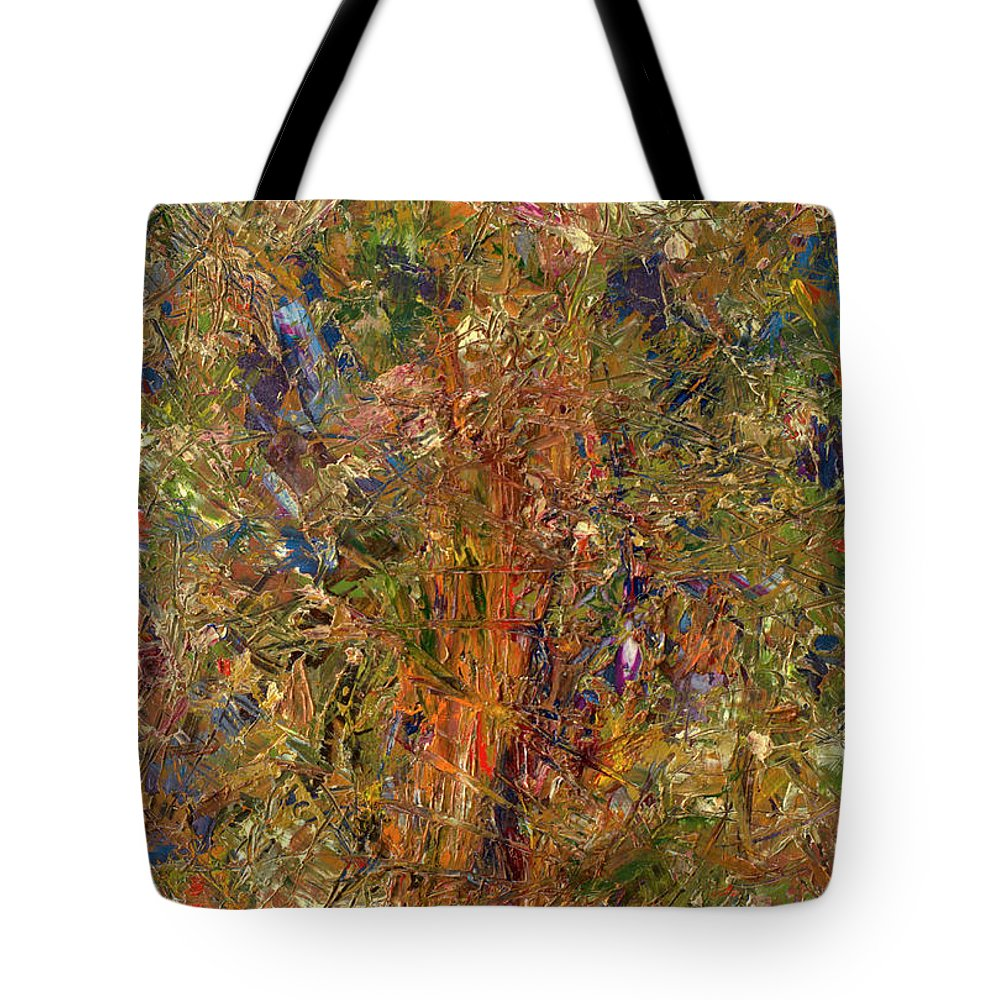 Abstract Tote Bag featuring the painting Paint Number 25 by James W Johnson