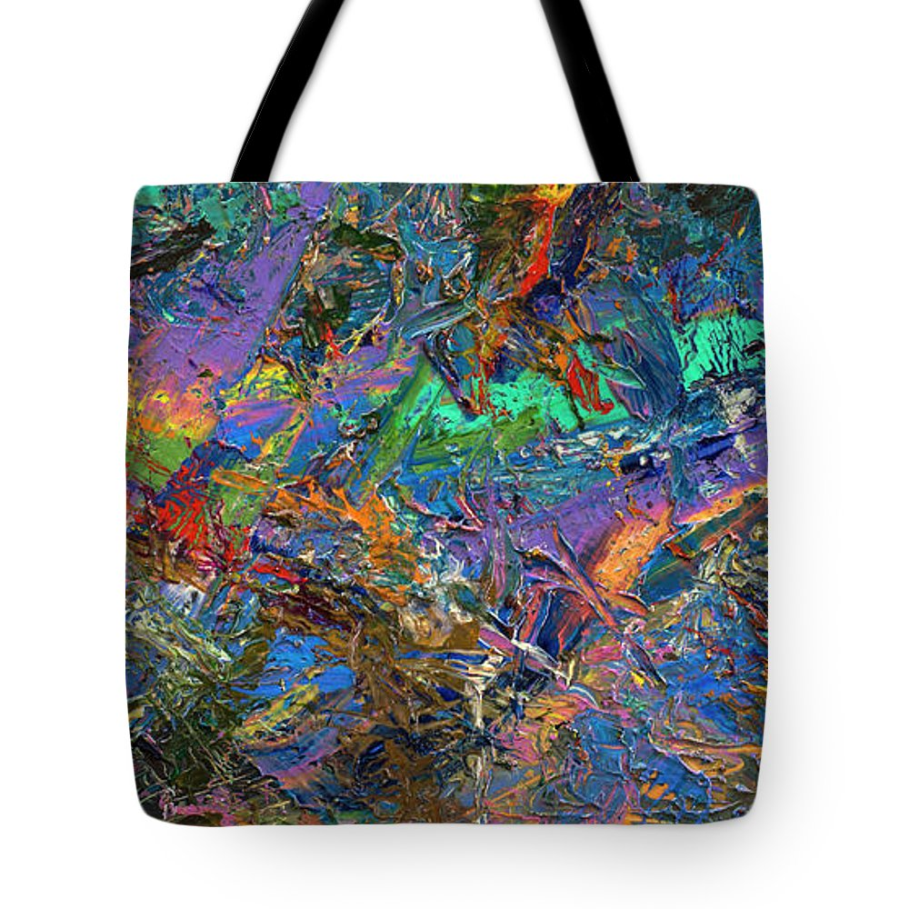 Abstract Tote Bag featuring the painting Paint Number 28 by James W Johnson