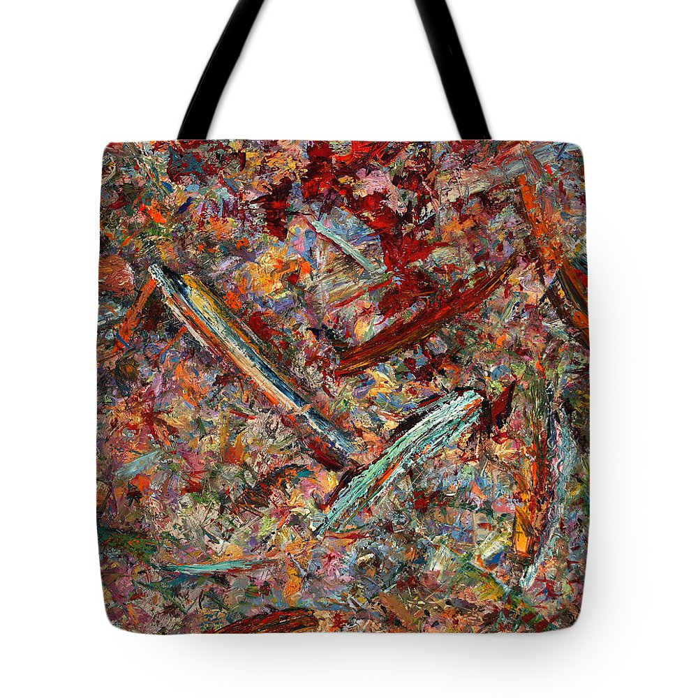 Abstract Tote Bag featuring the painting Paint Number 30 by James W Johnson