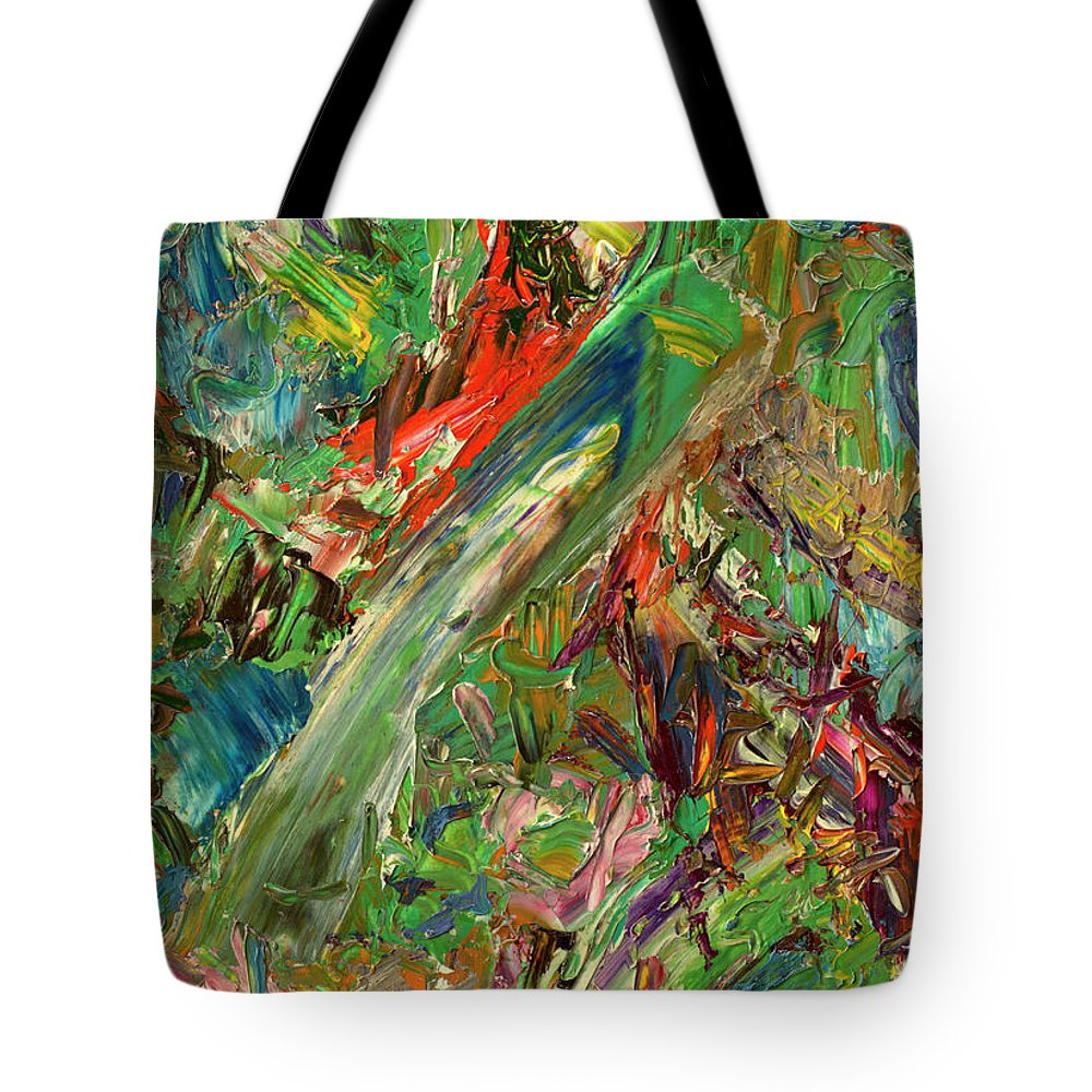 Abstract Tote Bag featuring the painting Paint Number 32 by James W Johnson
