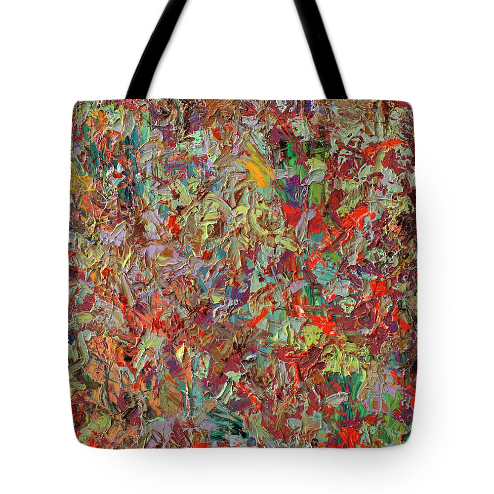Abstract Tote Bag featuring the painting Paint Number 33 by James W Johnson