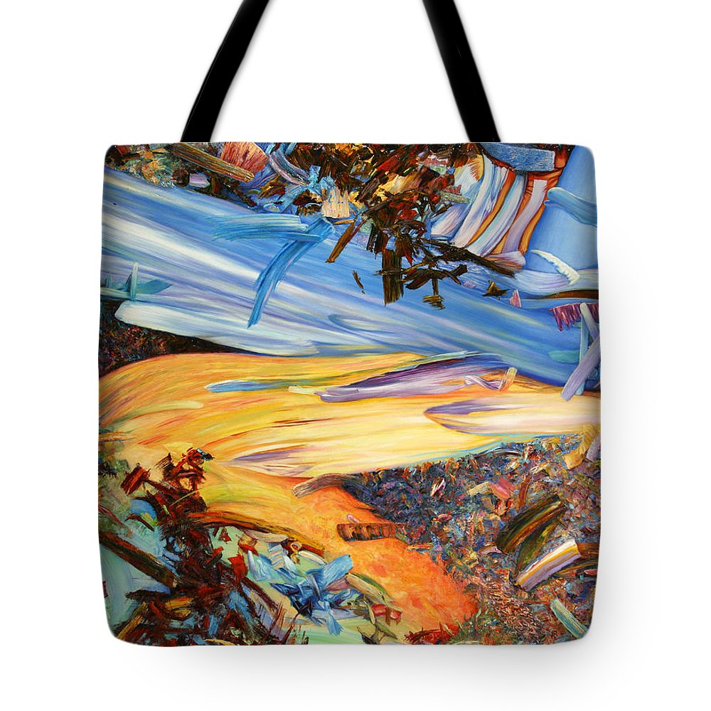 Abstract Tote Bag featuring the painting Paint Number 38 by James W Johnson
