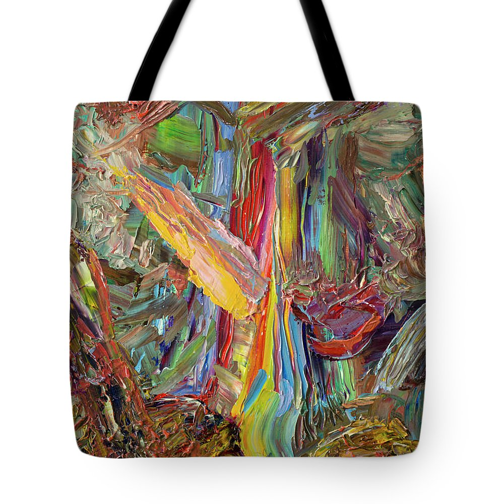 Abstract Tote Bag featuring the painting Paint Number 40 by James W Johnson