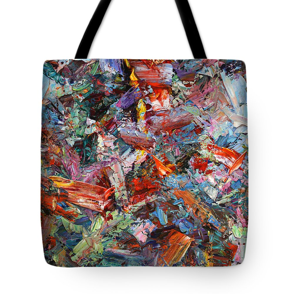 Abstract Tote Bag featuring the painting Paint Number 42-a by James W Johnson