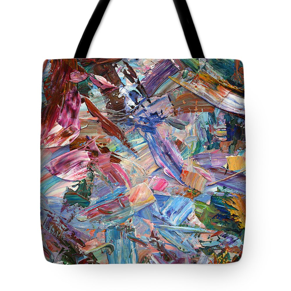 Abstract Tote Bag featuring the painting Paint Number 42-b by James W Johnson