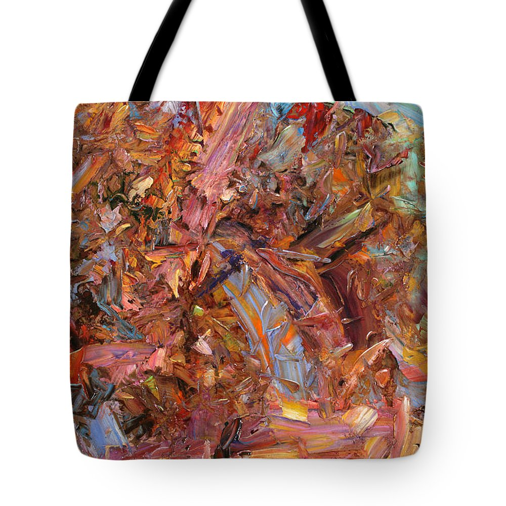 Abstract Tote Bag featuring the painting Paint Number 43b by James W Johnson
