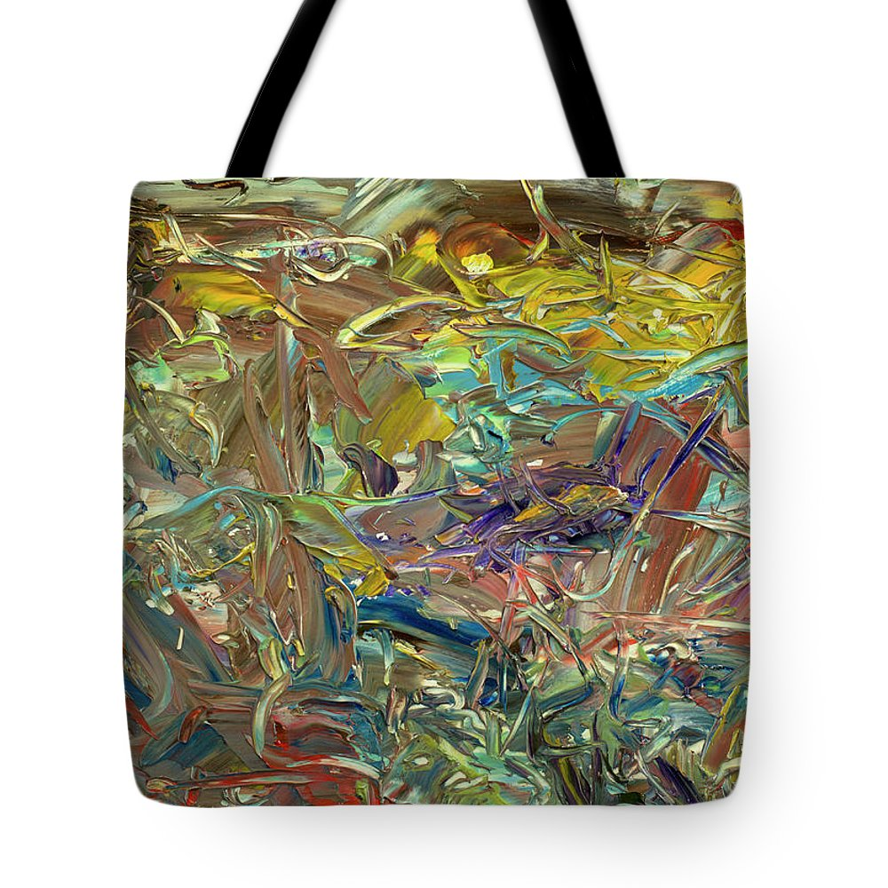 Abstract Tote Bag featuring the painting Paint Number46 by James W Johnson