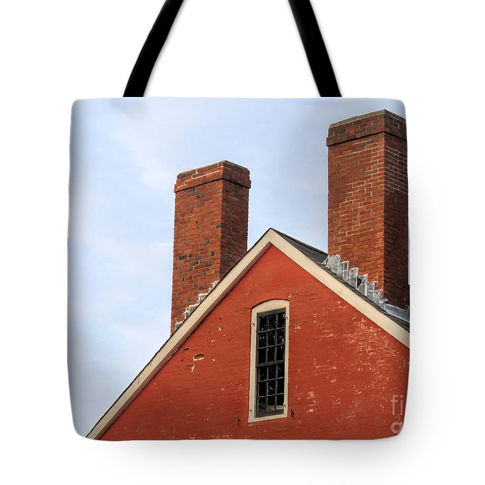 Janice Drew Tote Bag featuring the photograph Painted Brick by Janice Drew