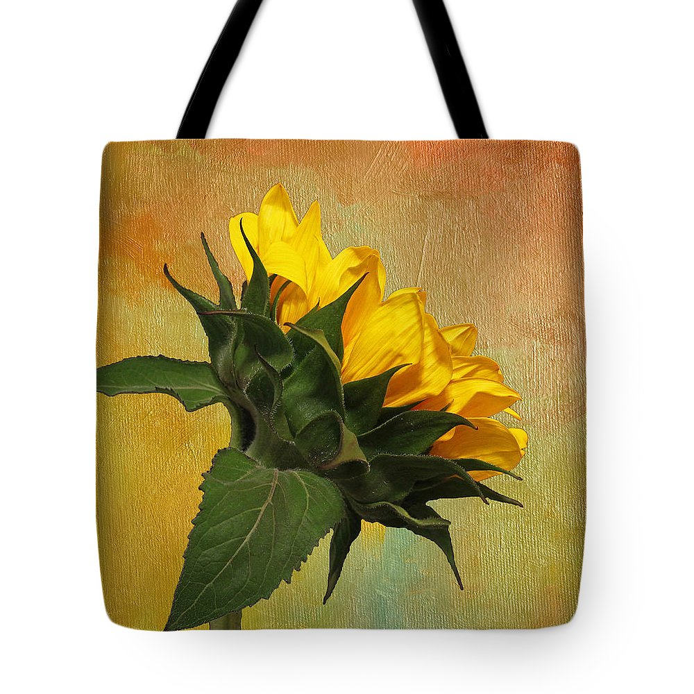 Sunflower Tote Bag featuring the photograph Painted Golden Beauty by Judy Vincent