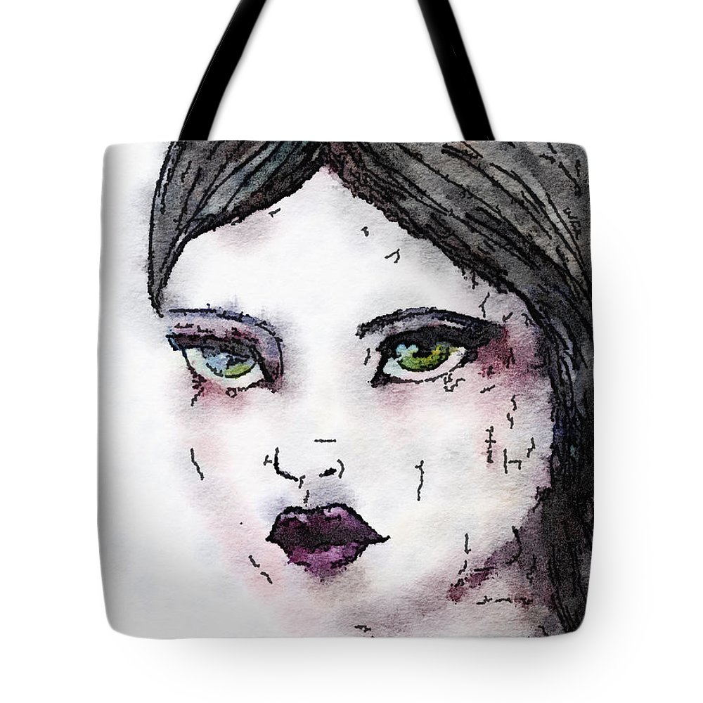 Face Tote Bag featuring the painting Annabel 6 by Vanessa Katz