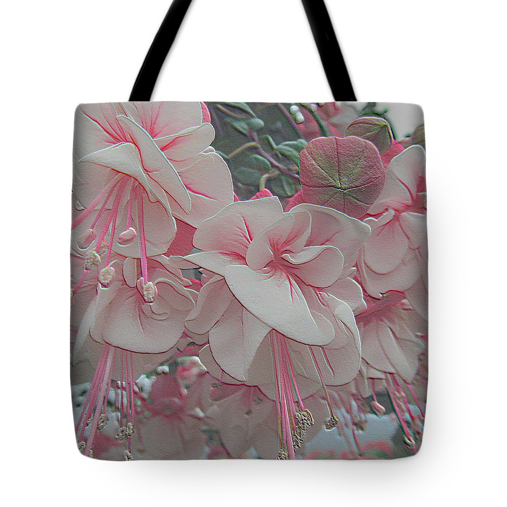 Flower Tote Bag featuring the photograph Painted Pink Fushia by Tina M Wenger