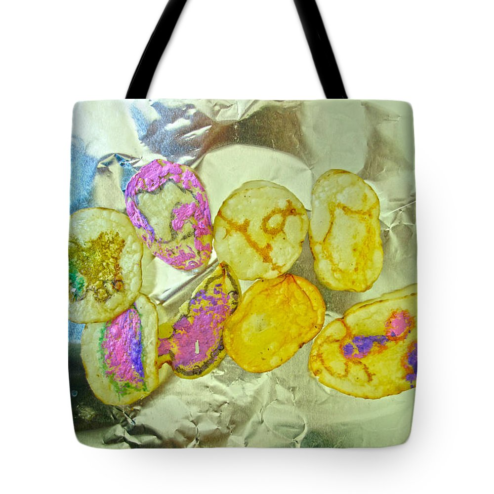 Tote Bag featuring the painting Painted Potato Chips by Reiner Poser