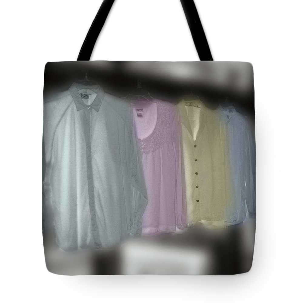 Shirts Tote Bag featuring the photograph Painted Shirts by Wayne King