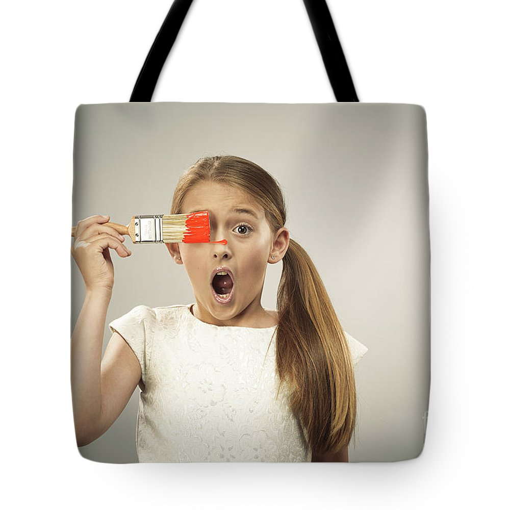 Young Tote Bag featuring the photograph Painting by Amanda Elwell