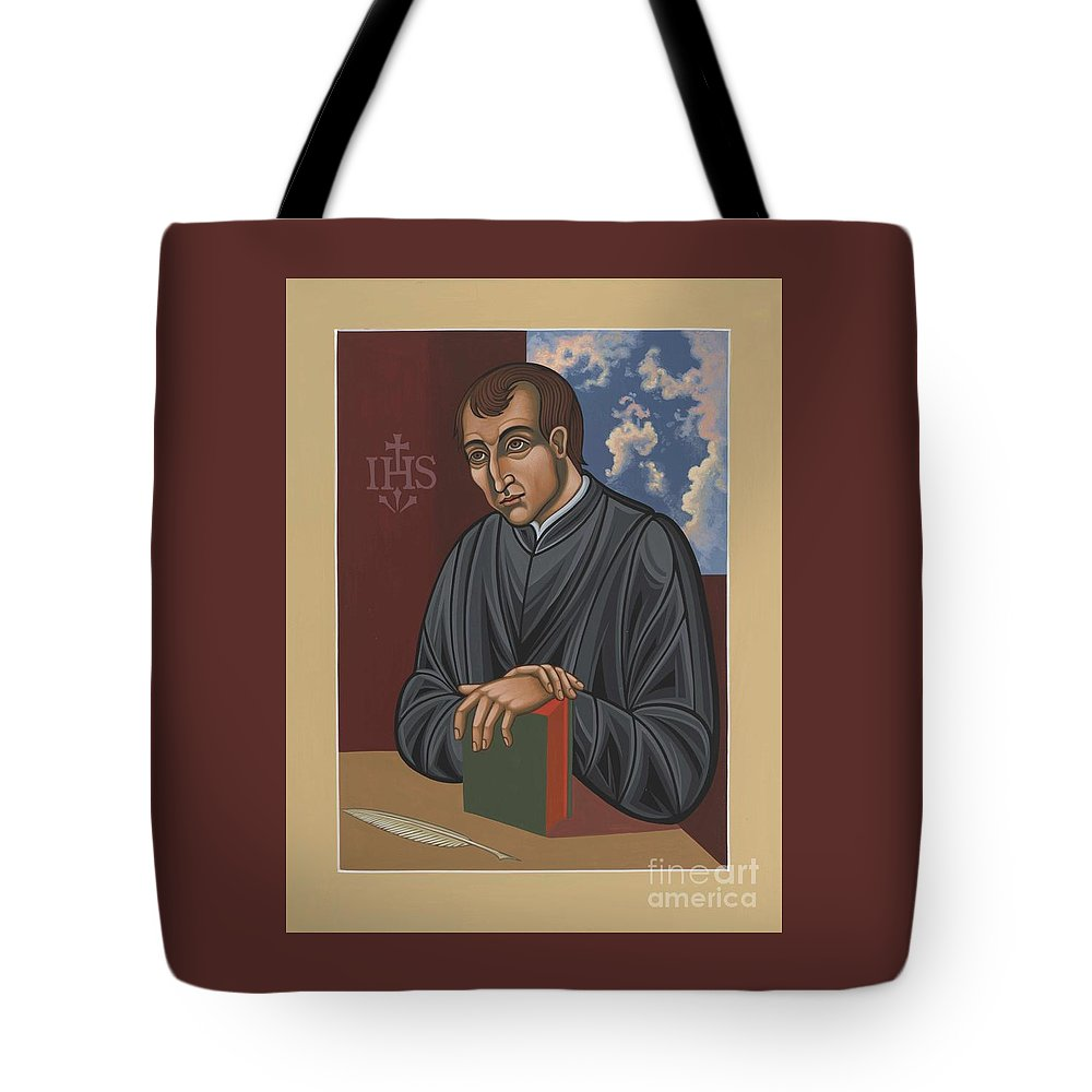Painting Tote Bag featuring the painting Painting Of Fr Balthasar Gracian Sj 180 by William Hart McNichols