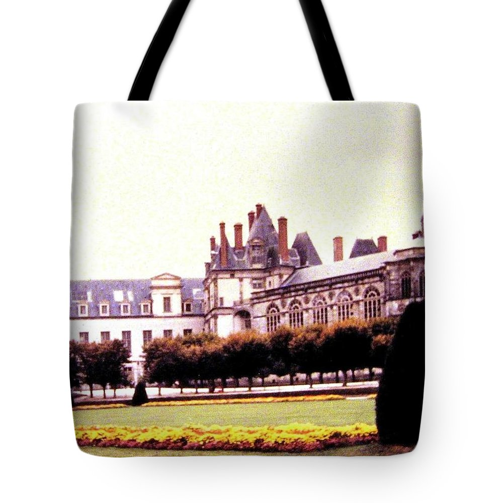 1955 Tote Bag featuring the photograph Palace Of Fontainebleau 1955 by Will Borden