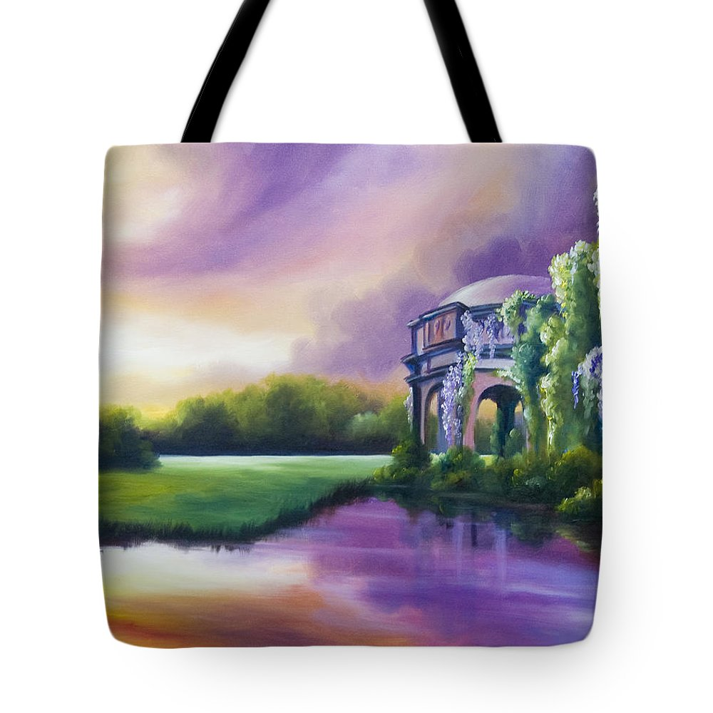 Marsh Tote Bag featuring the painting Palace Of The Arts by James Christopher Hill