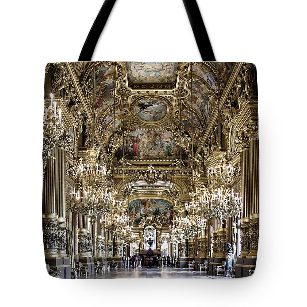 France Tote Bag featuring the photograph Palais Garnier Grand Foyer by Alan Toepfer