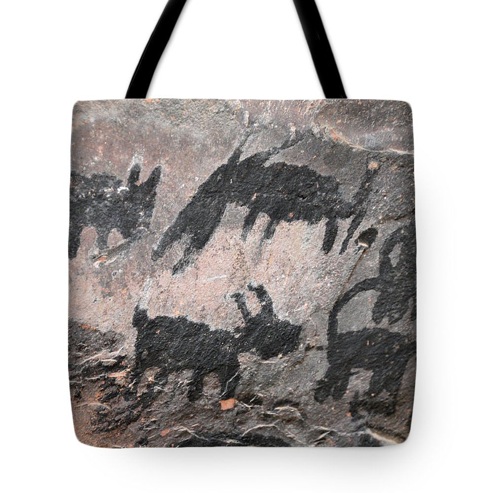 Palatki Indians Tote Bag featuring the photograph Palatki Pictoglyph by David Arment